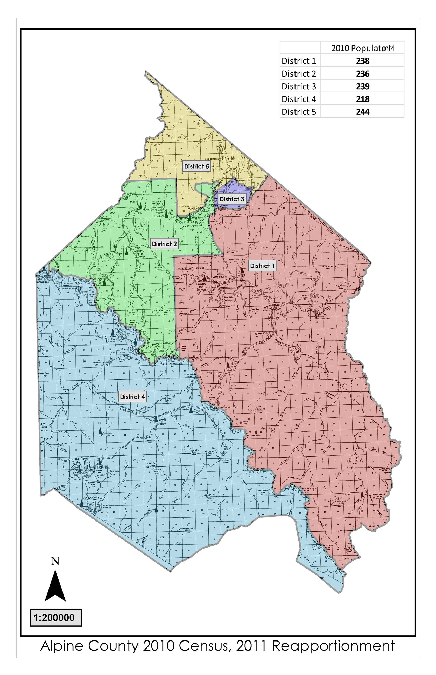 2010 Census, 2011 Redistricting Map 11x17